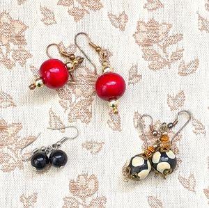 ⚡FREE W BUNDLE⚡ Earrings - Vintage Wooden Balls